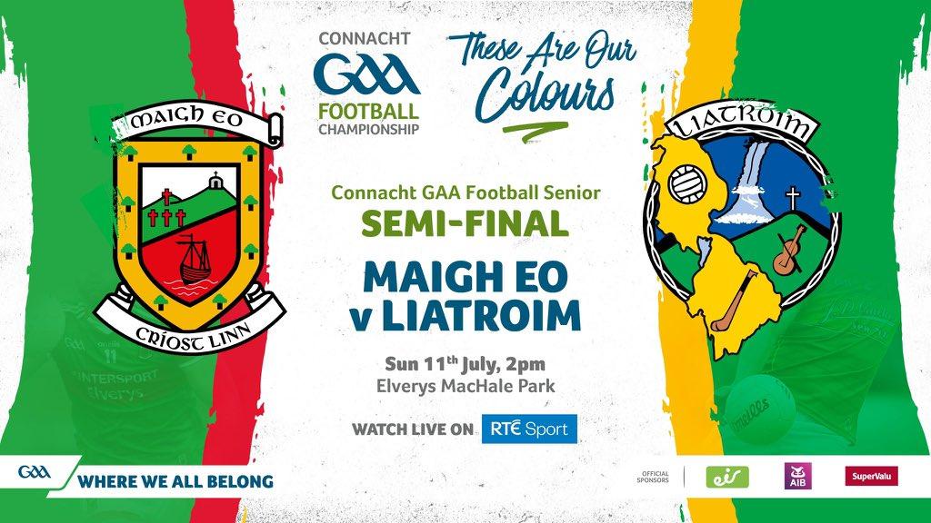 Mayo v Leitrim Connacht semi final poster