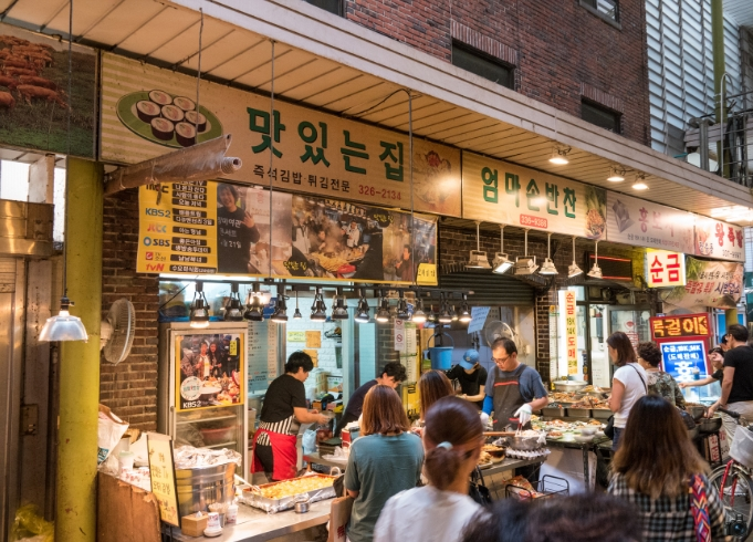 Traditional Markets in Korea mangwon market