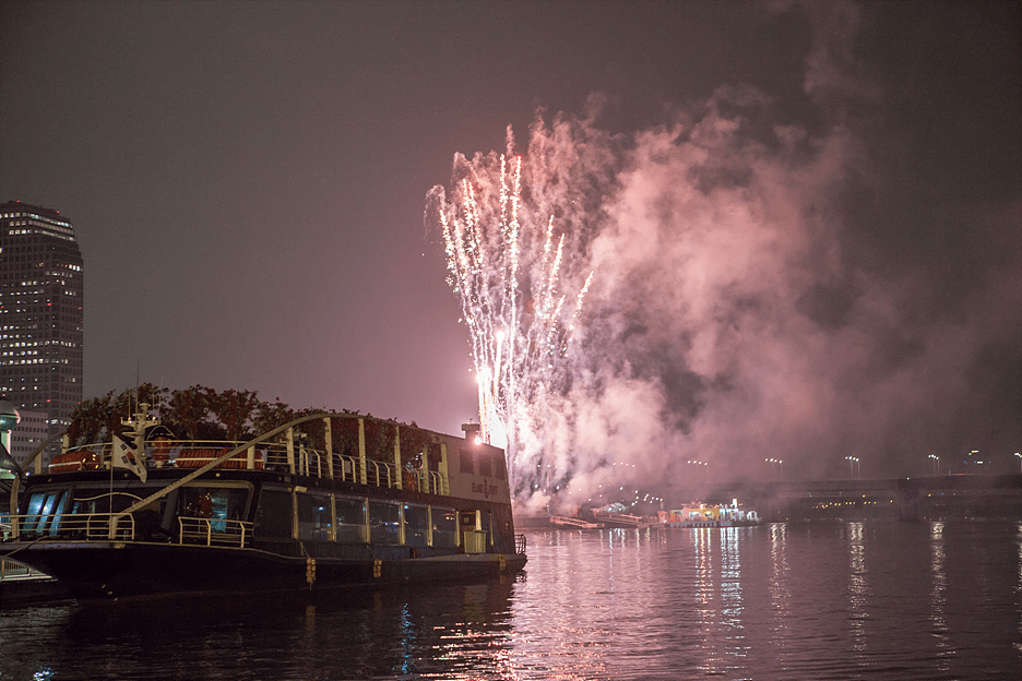 Han River Ferry Cruise_fireworks