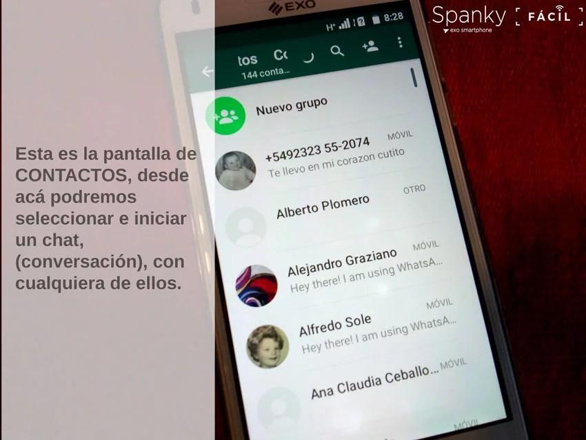 celular, uso de WhatsApp