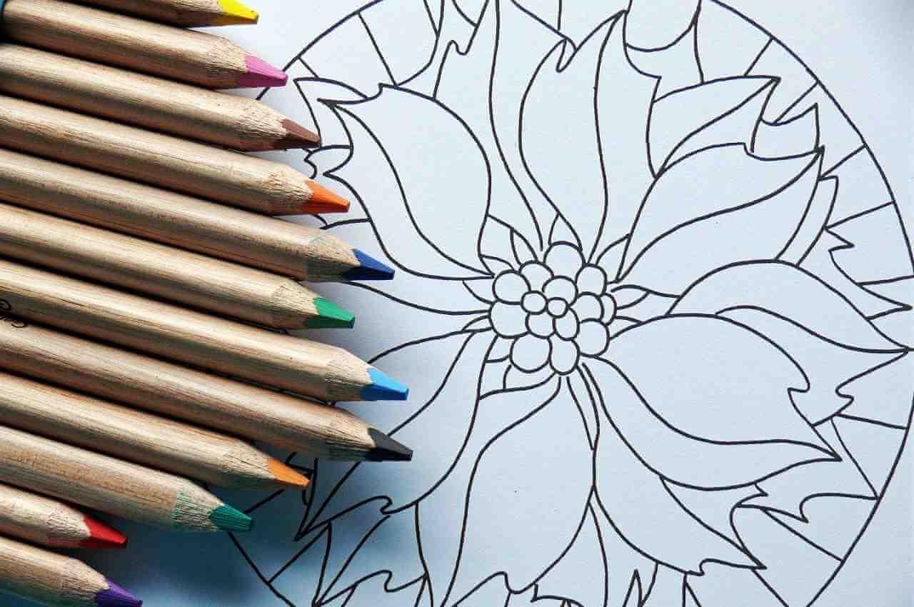 mandala lapices de colores