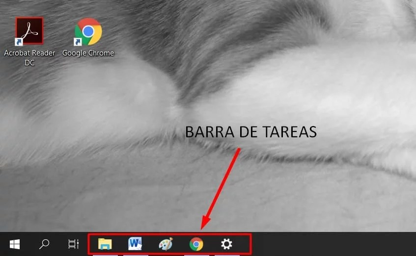 barra de tareas de windows