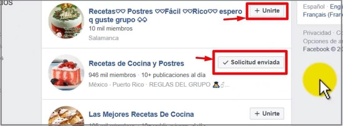 cómo unirse a un grupo de facebook