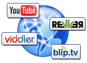 Easy sharing to video hosting sites