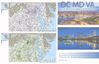 2016 estimates based on natural growth, migration, educational and employment trends of never married population (ages 18+) in Washington D.C., Maryland, Virginia Females vs. Males by Census Tract Murat Mayor, Ph.D. MAYOR GROUP, mayorgroup.com MAYOR STRATEGY, mayorstrategy.com