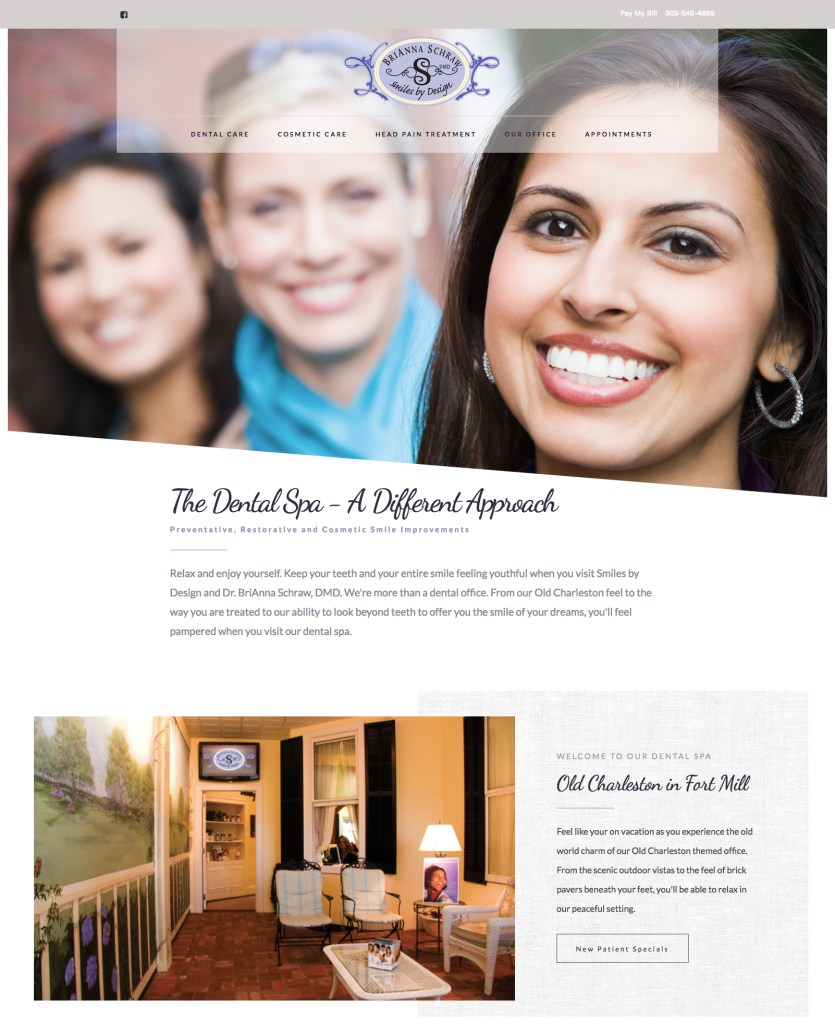 DrSchraw.com website design by The Mayoros Agency in Fort Mill, SC