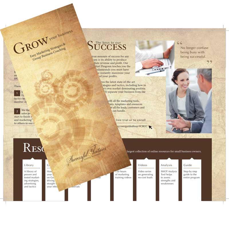 Successful Ventures Tri-Fold Brochure - A 2014 Award Winning Design by The Mayoros Agency