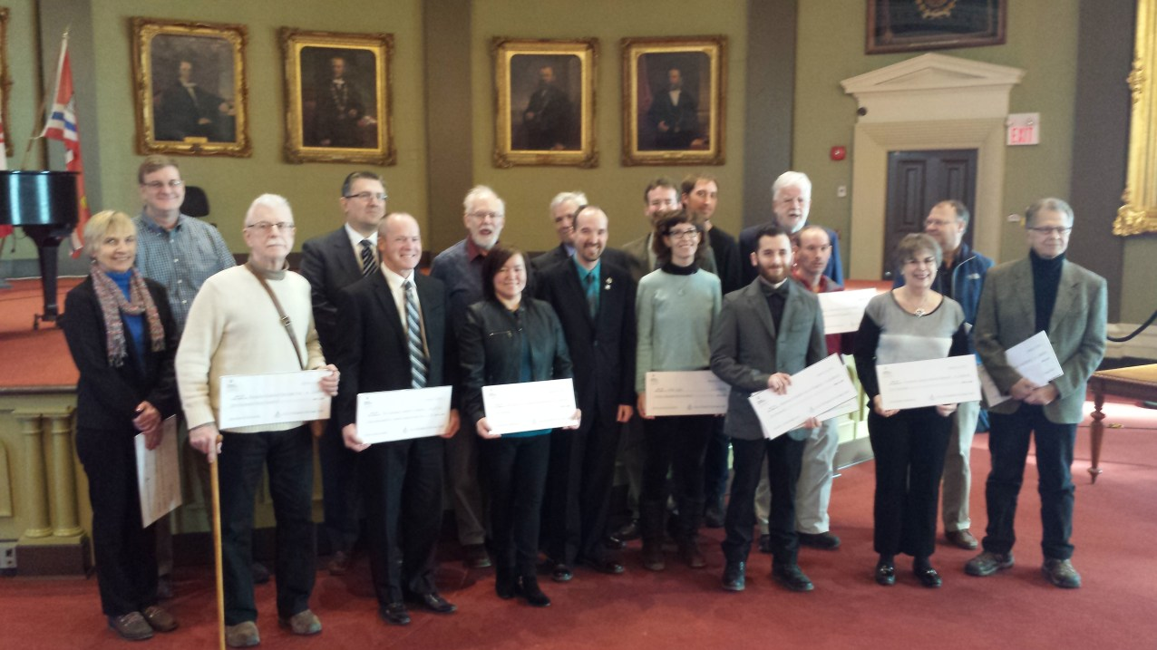 Congratulations to this years City of Kingston Cultural Heritage Fund recipients - Jan. 22