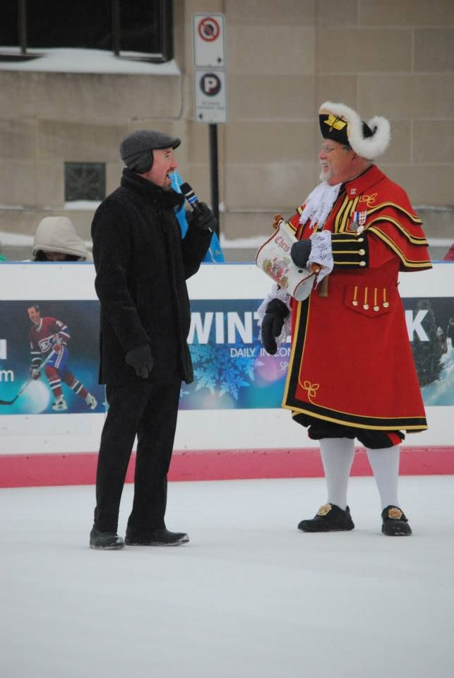 kicking off FebFest with our world champion Town Crier, Chris Whyman - Feb. 5