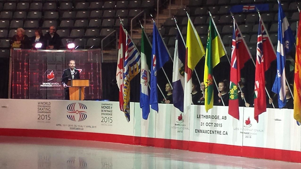 Opening ceremonies of Skate Canada in Kingston - Jan. 23