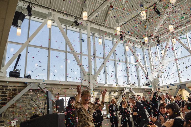 Celebrating the opening of the J.K. Tett Centre - Jan. 30
