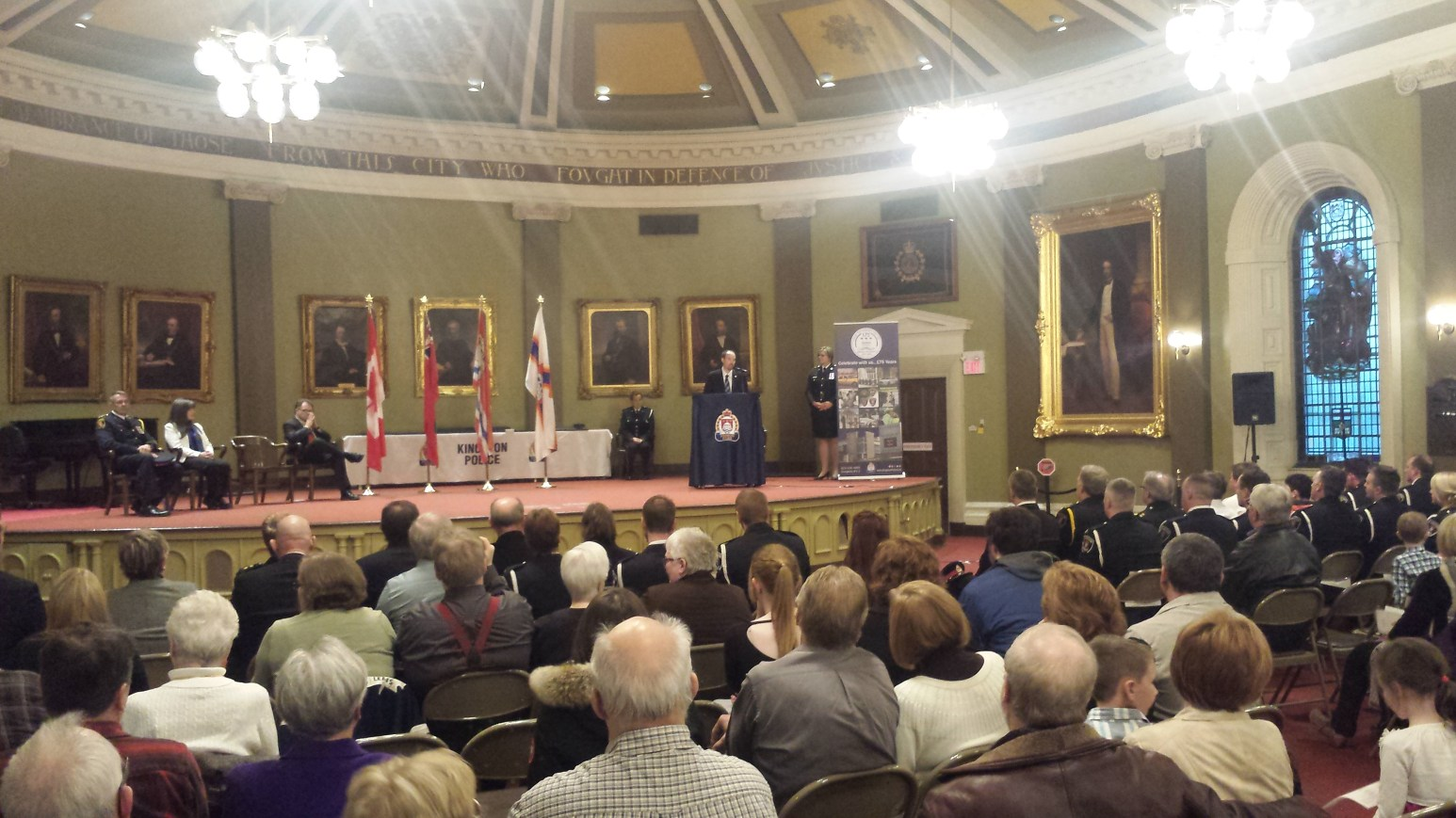 Honoured to attend and help present awards at the Kingston Police Awards Ceremony - April 9