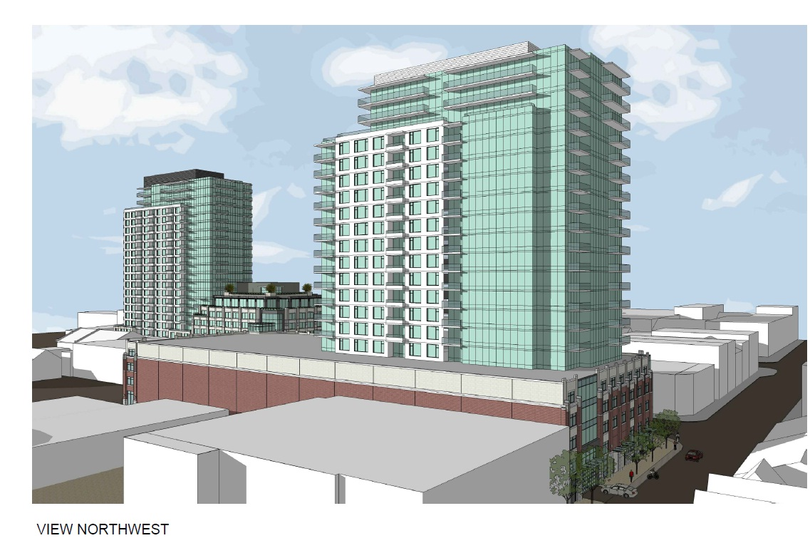 Proposed Homestead development – apartment complexes on Ontario and Queen Streets