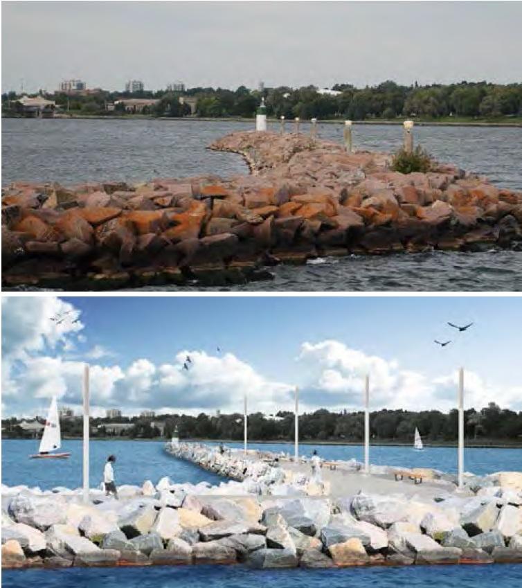 Beakwater rendering - Waterfront Master Plan