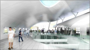 Artist impression: Whitechapel station ticket hall