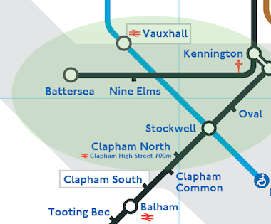 New stations will be built at Nine Elms and to Battersea. Image: TfL