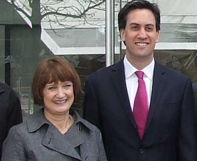 Dame Tessa with Labour leader Ed Miliband.