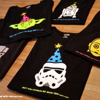 """the Fourth be with You"" is our middle name!  (DIY May the Fourth Party Shirts)"