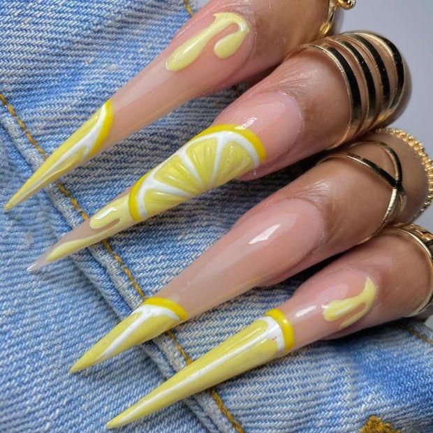 LEMONY summer nail designs for 2021