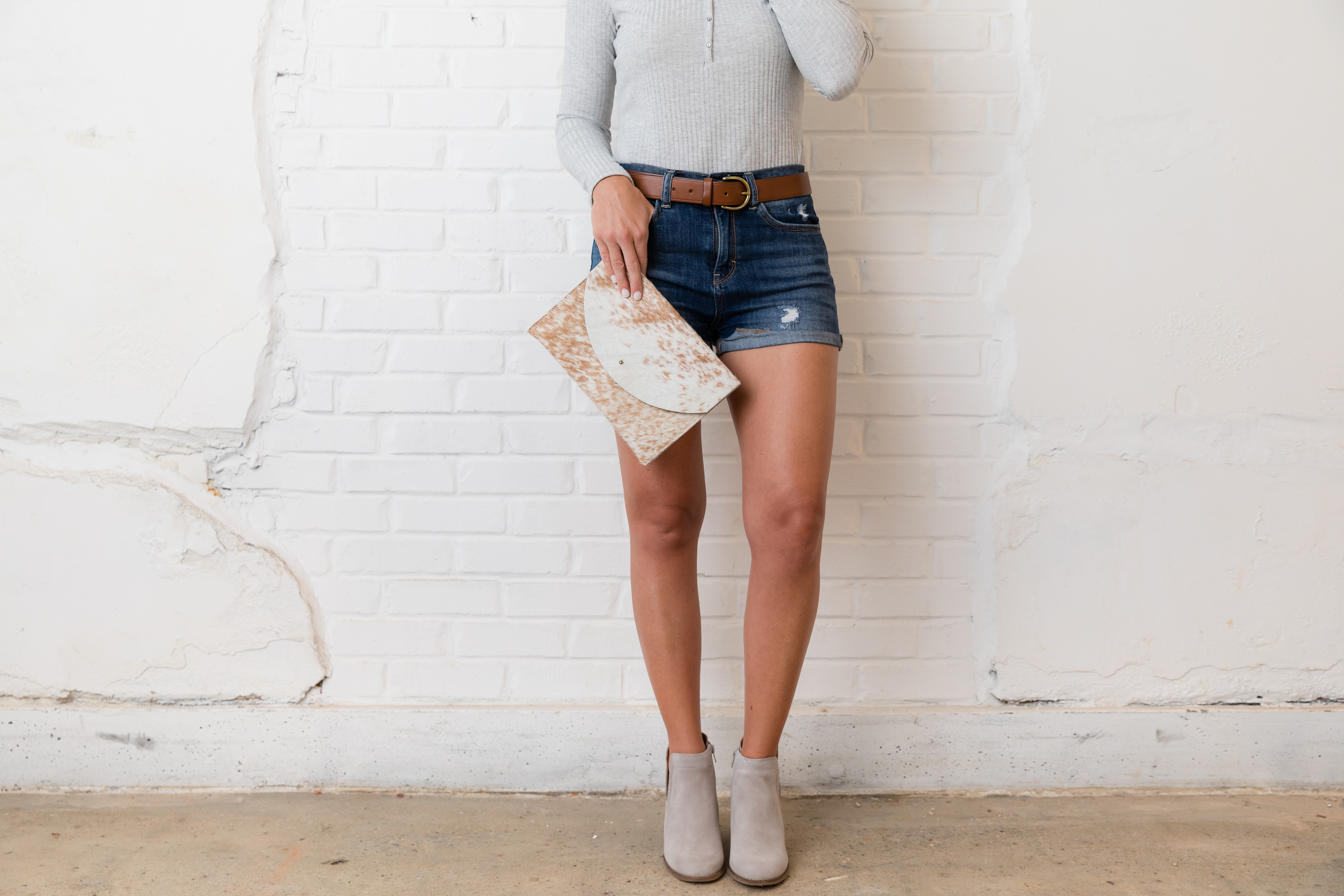 Summer To Fall- denim shorts and booties