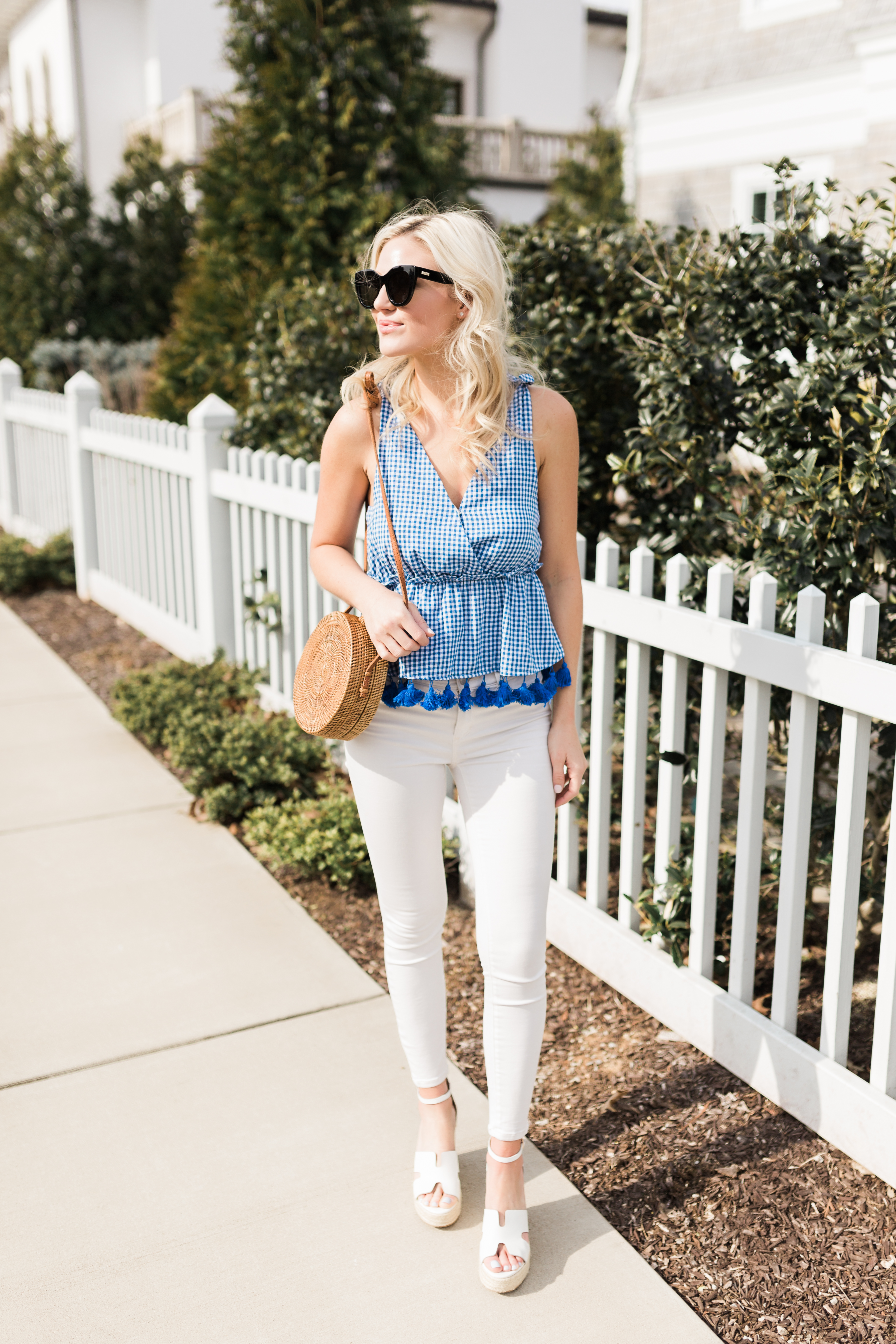Blue Gingham Top