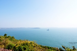 From atop Fort Aguada
