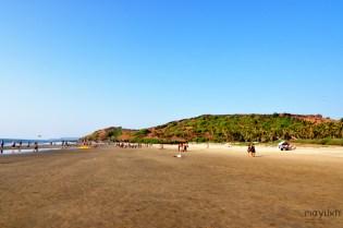 Wagator beach beside Fort Chapora