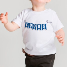 Camiseta bebé Banderines Unisex