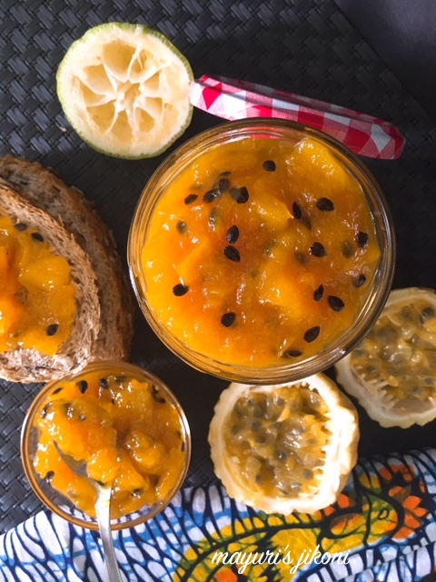mango and passion fruit jam 1