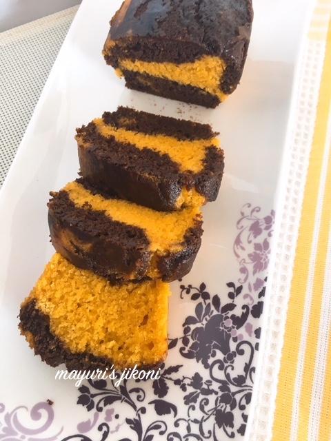 mango marble cake