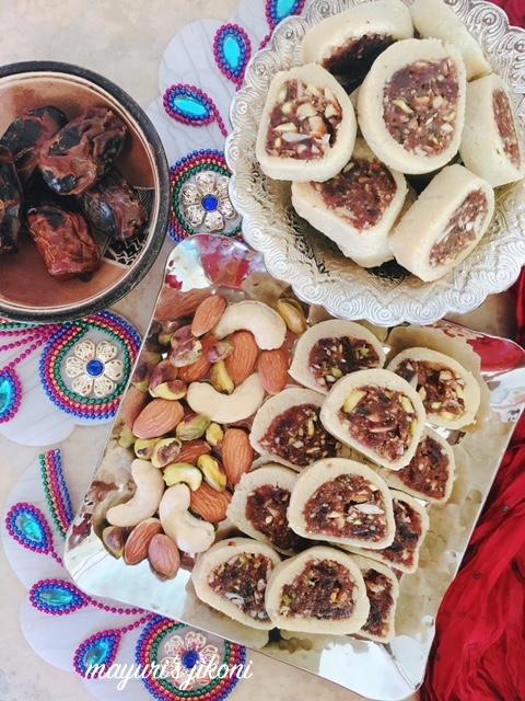 Date and Cashew Nut Barfi 1