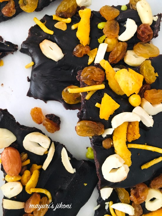 Bombay Mix Chocolate Bark 5