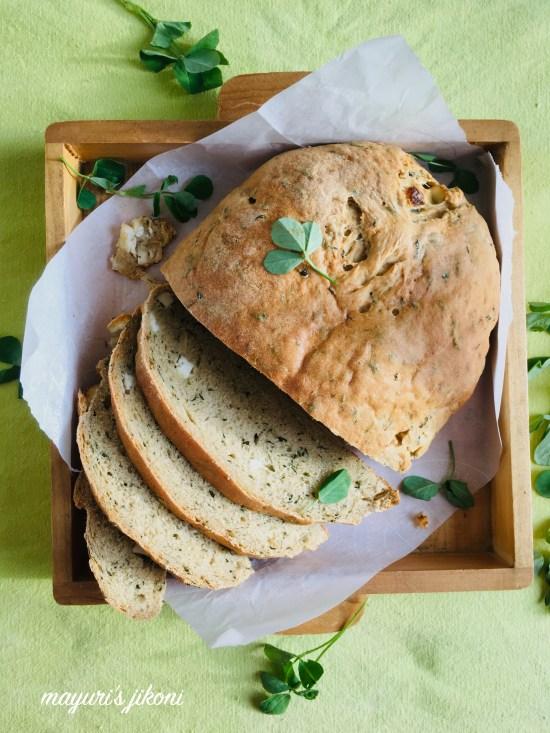 methi paneer bread 1