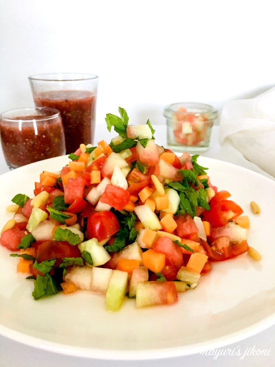 watermelon rind salad 4