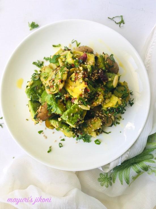 roasted potato and avocado salad 6