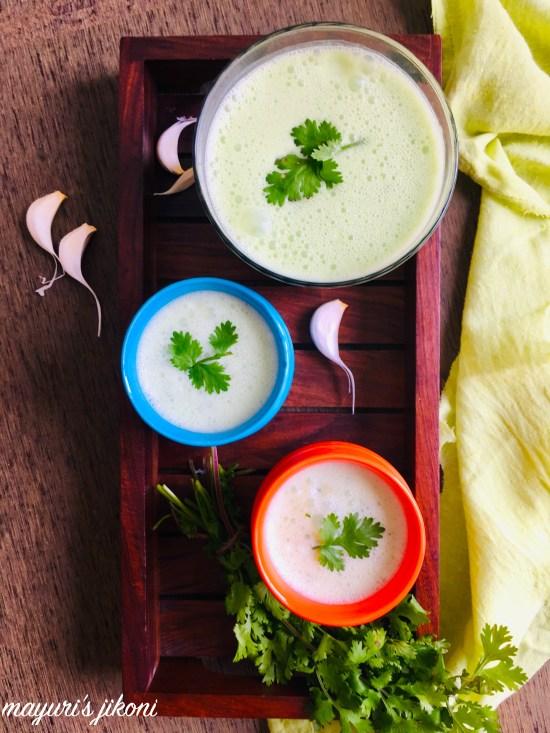 coriander garlic chaas 3