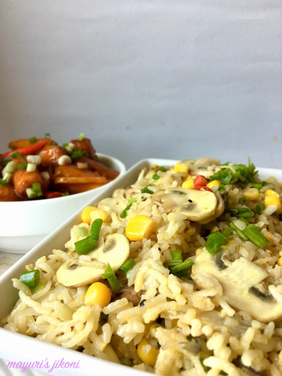 mushroom egg fried rice 2