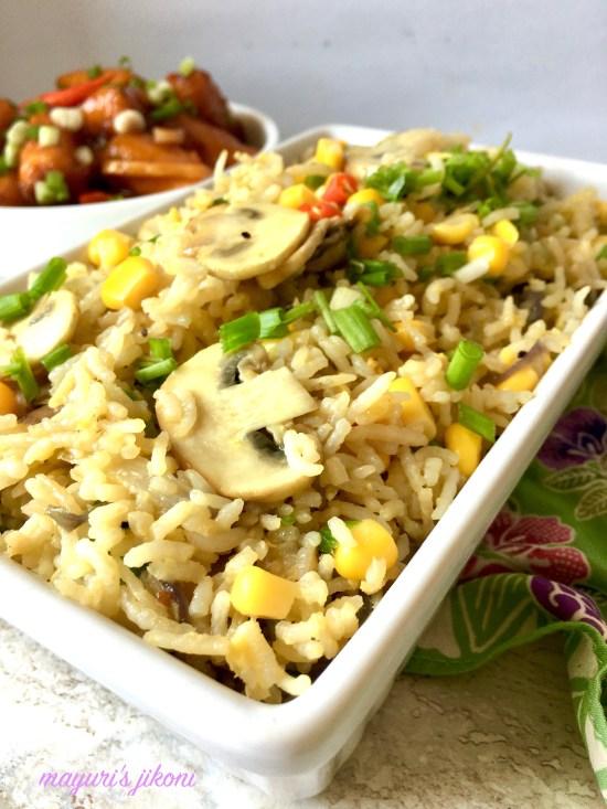 mushroom egg fried rice 4