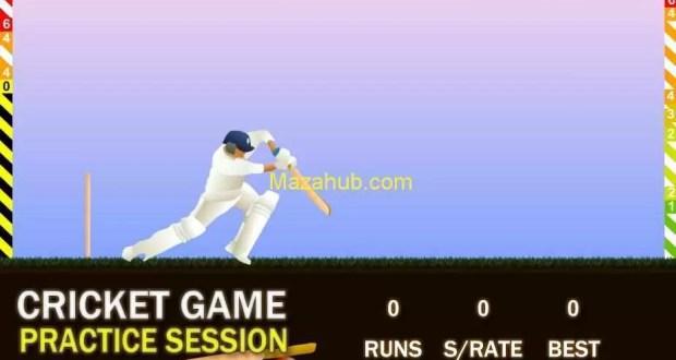 Cricket practice game