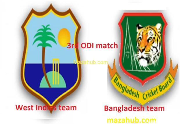 Bangladesh vs West Indies 3rd ODI