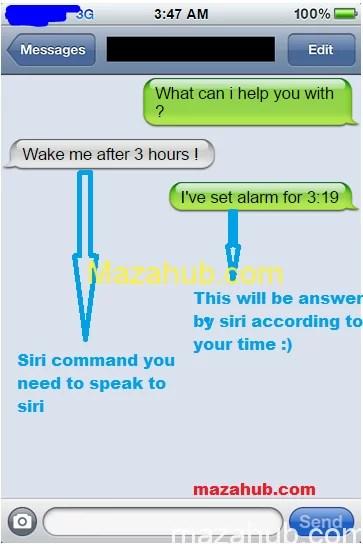 iPhone Siri command