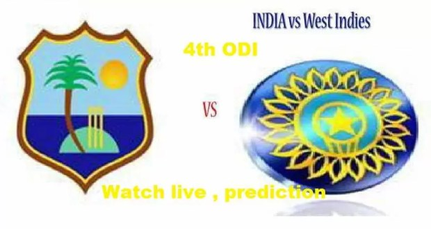 India vs West Indies 4th ODI
