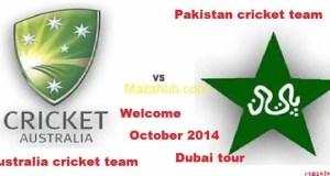 Pakistan vs Australia Schedule October 2014