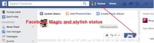 Stylish Post or Status Facebook Trick