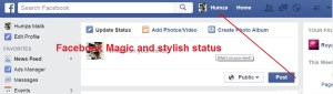 Stylish Post or Status Facebook Trick