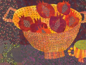 Strainer with Pomegranates, 2013