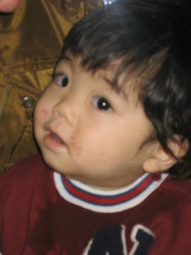 冨着勝弘さんのお孫さんの翔瑛ちゃんも一緒です