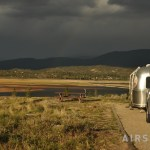 Airstream parked at Stillwater campground in the Arapaho NRA near Grand Lake CO