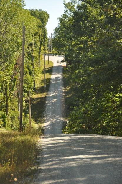 New Florence MO steep drive