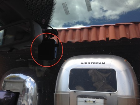 Transcend dashcam installed inside